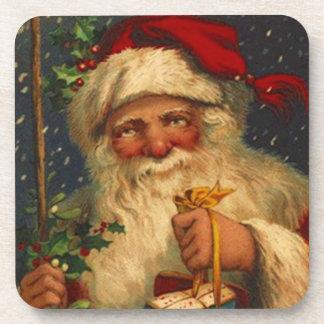 Coasters Gift Christmas Woodland Santa Snowing