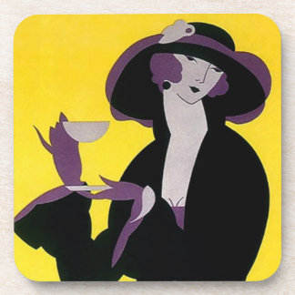 Coasters Gift Fashion Art Deco High Tea Afternoon