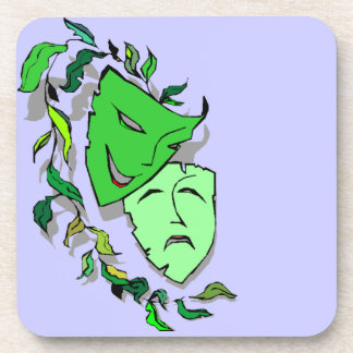 Coasters Gift Theatre Comedy Tragedy Mask Lavender