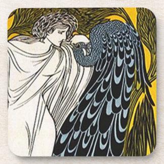 Coasters Grecian Goddess Peacock Hera Toga