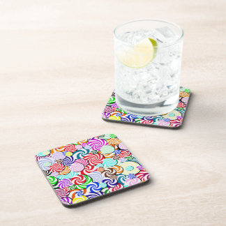 Coasters - Hard Plastic - Candy Collage
