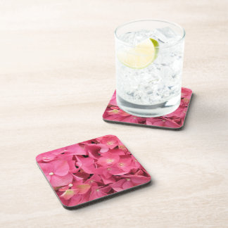 Coasters - Hard Plastic - Dark Pink Hydrangeas