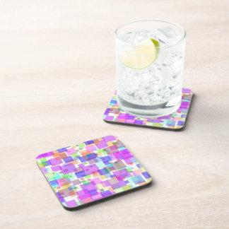 Coasters - Hard Plastic - Squarely Bubble Gum