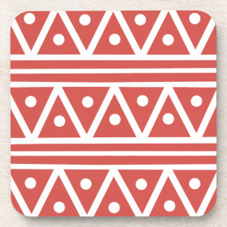 Coasters in Cayenne Aztec Print