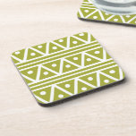 Coasters in Green Pear Aztec