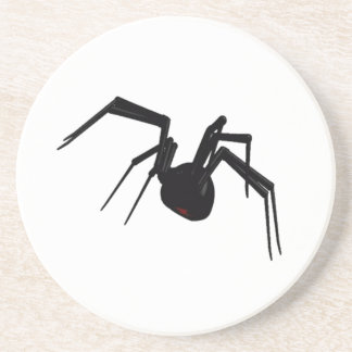 Coasters Intriguing Black Widow Spider Profile