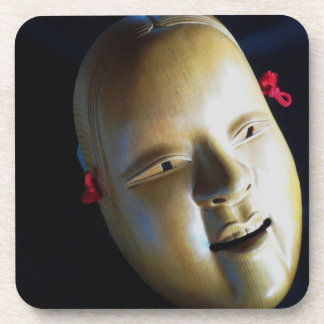 Coasters Japanese Noh Mask Ko-Omote Theatre Photo