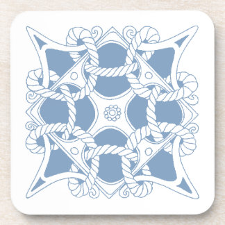 Coasters Mariners Celtic Knot Twined Rope Blue Wht