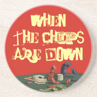 Coasters Poker Idiom chips are down cards gifts
