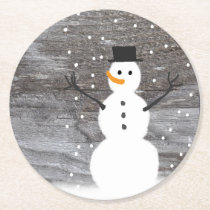 Coasters  pulp board rustic Christmas snowman