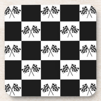 Coasters Racing Race Fans Checkered Flags Checks