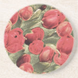 Coasters, Red Tulips, Decorative Art Coasters