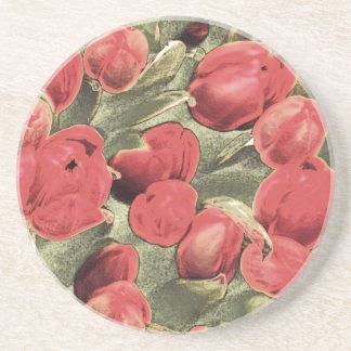 Coasters, Red Tulips, Decorative Art Coasters
