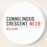 Cunnilingus  crescent  Coasters (Sandstone)