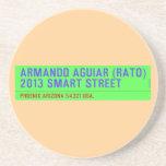 armando aguiar (Rato)  2013 smart street  Coasters (Sandstone)