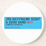 3rd Davyhulme Scout & Guide Band  Coasters (Sandstone)