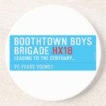 boothtown boys  brigade  Coasters (Sandstone)