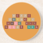 Happy  Periodic  Table Day Fellow Nerds  Coasters (Sandstone)