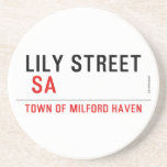 Lily STREET   Coasters (Sandstone)