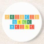 Periodic Table Writer  Coasters (Sandstone)