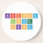 Karissa Love Oksa  Coasters (Sandstone)