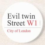 Evil twin Street  Coasters (Sandstone)