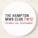the Hampton  MWB Club  Coasters (Sandstone)