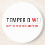TEMPER D  Coasters (Sandstone)