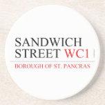 SANDWICH STREET  Coasters (Sandstone)