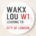 WAKX LOU  Coasters (Sandstone)