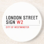 LONDON STREET SIGN  Coasters (Sandstone)