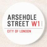 Arsehole Street  Coasters (Sandstone)