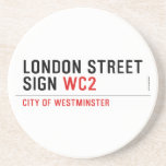 LONDON STREET SIGN  Coasters (Sandstone)