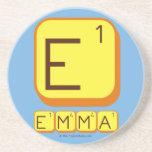 E EMMA  Coasters (Sandstone)