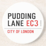 PUDDING LANE  Coasters (Sandstone)