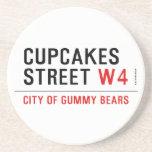 cupcakes Street  Coasters (Sandstone)