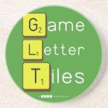 Game Letter Tiles  Coasters (Sandstone)