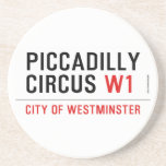 piccadilly circus  Coasters (Sandstone)