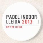 PADEL INDOOR LLEIDA  Coasters (Sandstone)