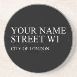 Your Name Street  Coasters (Sandstone)