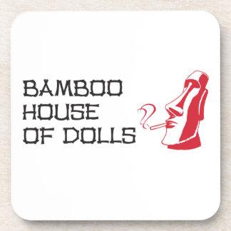 Coasters set of 6 - Bamboo House of Dolls
