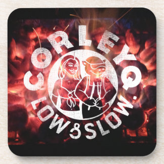 """Coasters (set of 6) with CorleyQ """"Fire"""" design."""