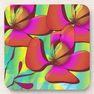"coasters  (set of six)  ""Floral Beauty"""