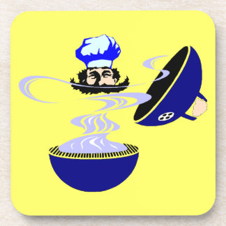 Coasters Summer Grilling Grill Out Chef charcoal