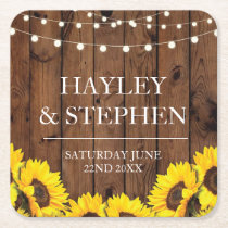 Coasters Sunflower Wood Light Rustic Wedding Party