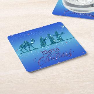 Coasters - Tres Reyes Magos - Navidad Posavasos De Cartón Cuadrado