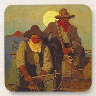 Coasters Vintage Old West Riding Shotgun Moonlight