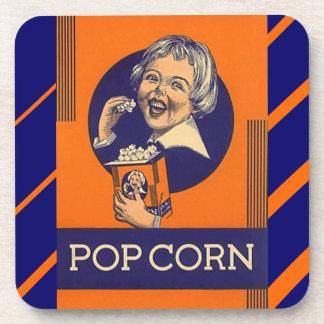 Coasters Vintage Popcorn Ad Movie Night Fun snacks