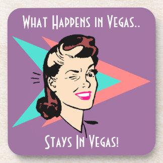 Coasters Vintage Winking Wink Gal Fun Vegas Humor