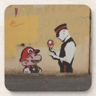 Coasters with Italian Street Art Graffiti Design